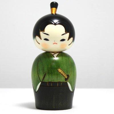 "Kokeshi-Figur ""Wakasamurai"" - junger Samurai, UK 8-8, Original aus Japan"
