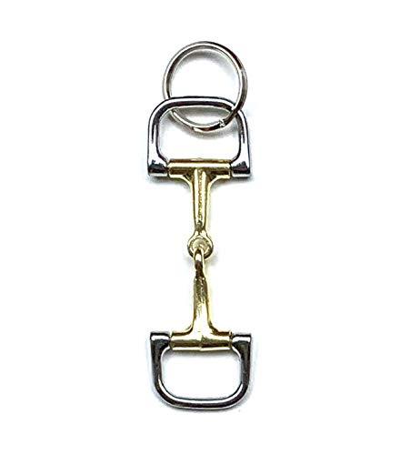JA Horse - Schlüsselanhänger Anhänger Pferd Reiter Pony (Gebisse D-Ring)