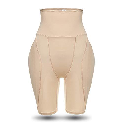 Pantalones levantadores de cadera, abdomen de cintura alta para mujer más almohadón de esponja, culo falso, nalgas y caderas, modelado del cuerpo después del parto, forma del cuerpo, nalgas (XXL)