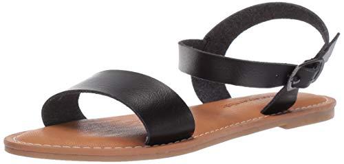 Amazon Essentials Women#039s Sox Sandal Black 8 B US