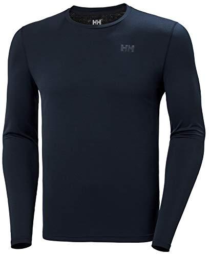Helly Hansen HH LIFA Active Solen LS Camiseta Técnica De Protección Solar Manga Larga, Hombre, Navy, S