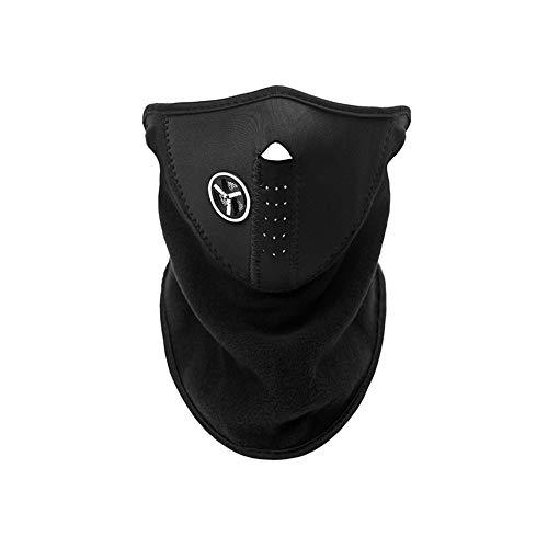 Beuya Máscara con cuello de neopreno para deportes de invierno, talla única, color negro