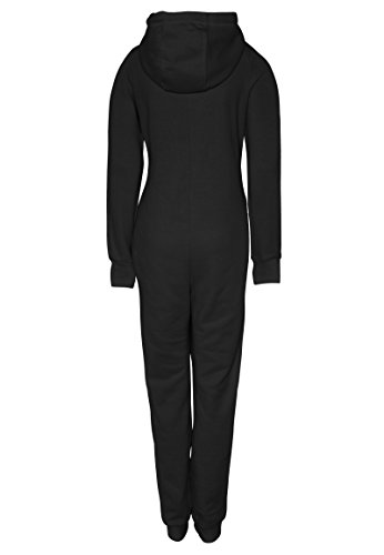 Eight2Nine Damen Sweat Overall | Kuscheliger Jumpsuit | Einteiler aus bequemen Sweat-Material einfarbig Black S/M - 3