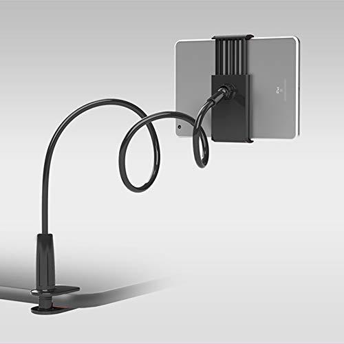 weichuang Soporte de teléfono móvil flexible para teléfono móvil, soporte universal para cama perezosa, soporte de escritorio de 360 grados para teléfono móvil, tableta, teléfono móvil (color: negro)