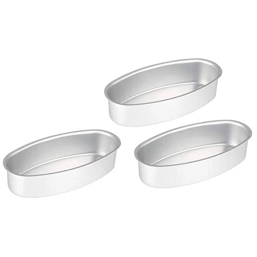 Brisuse 3 Pcs Oval Bread Loaf Pan Cake Mold