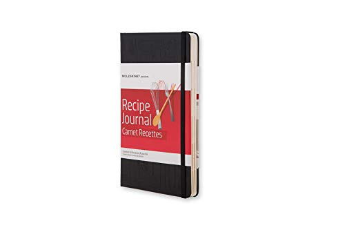 Moleskine Passion-Journal Rezepte Large, Hardcover mit Prägung schwarz