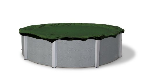 Blue Wave BWC810 Silver 12-Year 28-ft Round Above Ground Winter Pool Cover, FEET, Forest Green