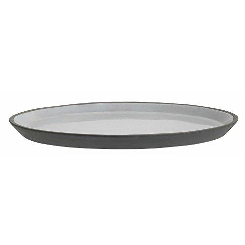 Nordal Steingut Teller schwarz weiß Großer Teller 27 cm