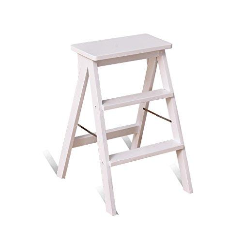 ZHDWM Solid Wood Step Kruk Draagbare Inklapbare Kruk Ladder Gebruikt Voor Woonkamer Keuken Vouwstoel