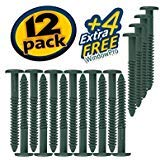 Window Shutters Panel Peg Lok Pin Screws Spikes 3 inch 16 Pack Fasteners (Forest Green) Exterior Vinyl Shutter Hardware Strongest Made in USA