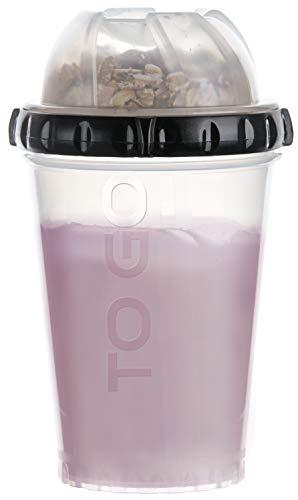 bester Test von joghurt to go becher FACKELMANN Müsli zum Mitnehmen, Joghurtgläser mit zusätzlichen abschließbaren Behältern, Reisegläser…