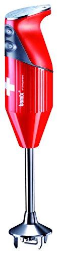 bamix–SWISSLINE rot 200W Bundle Pack–Küchenmaschine Stabmixer mit 4Klingen und Zubehör