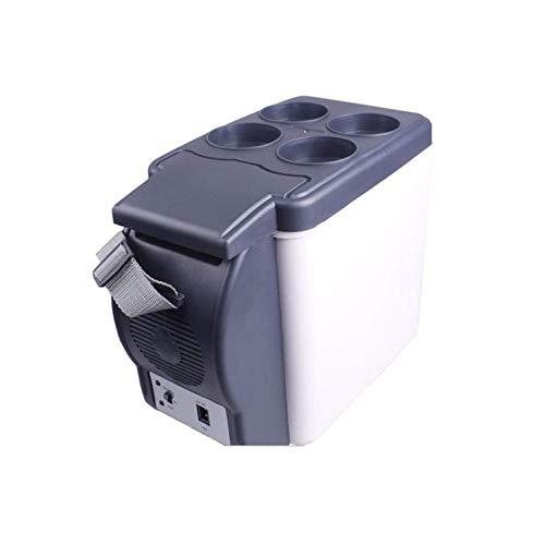 RTYUI Mini Fridge12V / 240V para El Coche Y El Hogar Nevera Portátil De 4L Refrigerador De Coche Frío Y Cálido para Viajar Y Acampar [Clase Energética A ++]