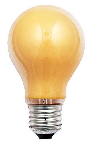 Scharnberger + Hasenbein Bombilla AGL, cristal, E27, 25 W, color amarillo, 10,5 x 6 x 6 cm