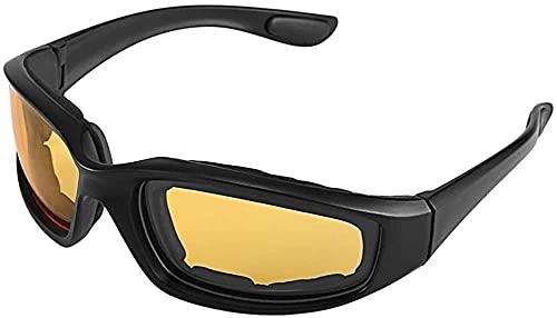 ZRDSZWZ Confiable motocicleta bicicleta gafas protectoras a prueba de viento a prueba de polvo gafas de ciclismo gafas gafas de deportes al aire libre gafas gafas de sol amarillo