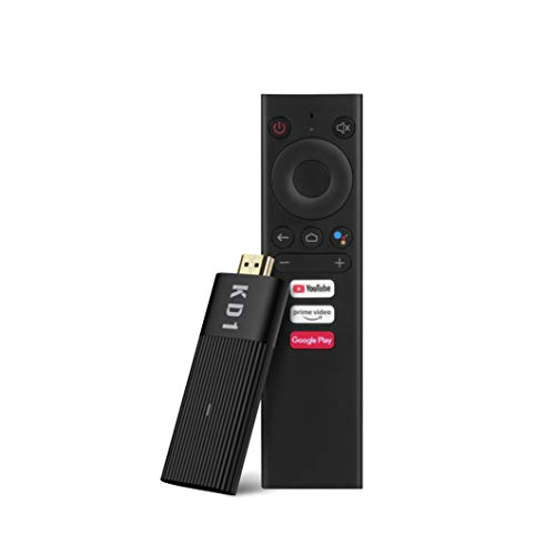 MECOOL KD1 Stick Stream 4K Google Certified Ultra 4K UHD ATV 2.4G 5G WiFi Voice Remote Control Assistant Chromecast Build in Powered by Android ATV Plug-in Smart TV