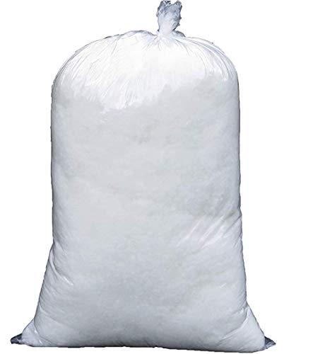 EURONOVITA' SRL Imbottitura Ovatta soffice Colore Bianco, Ovatta fioccata, riempimento Cuscini, Peluche, bomboniere, 100% Poliestere