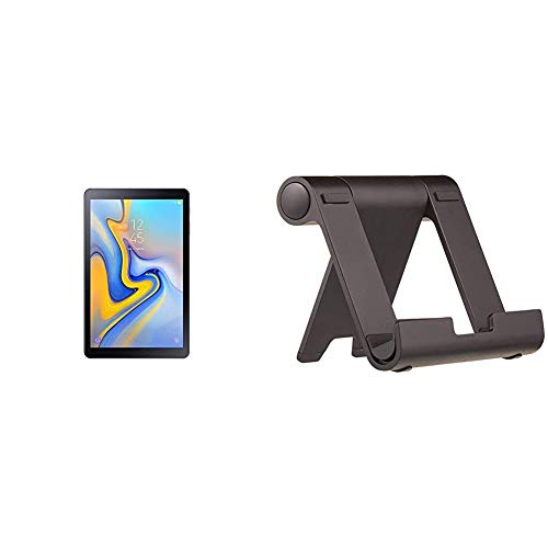 Samsung SM de t590nzka DBT Galaxy Tab a 10.5Wi-Fi–Tablet PC + Amazon Basics - Soporte multiángulo portátil para Tablets, e-Readers y teléfonos - Negro