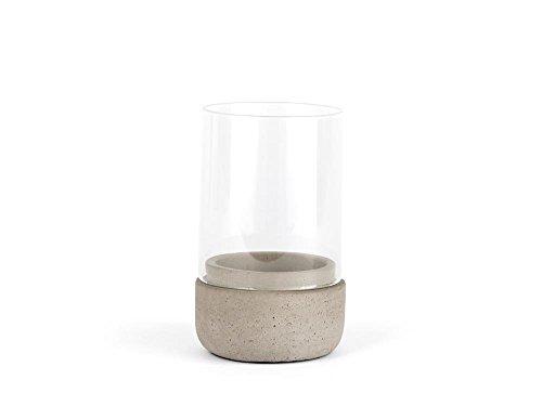 Zilverstad Windlicht Solido, klein, Beton, Grau, 8 x 8 x 13 cm