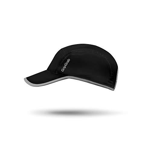 GripGrab Men's Running Cap Summer Baseball-Hat UV-Protection Visorcap Breathable Lightweight Triathlon Marathon Hiking, Black, OneSize (54-63 cm//21-25 inch Head Circumference)