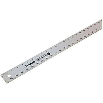 1 mm INSIZE 7110-600 Steel Rule Graduation 1//64 1//16 1//32 24//600 mm 0.5 mm