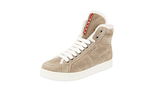 Prada Damen Beige Leder High-Top Sneaker 3T5779 38 EU