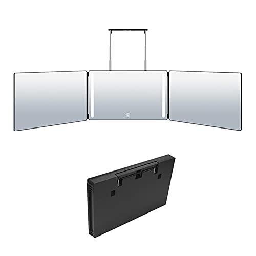 DJLOOKK Espejo de Maquillaje retráctil con luz LED, Espejos de tocador Colgantes...