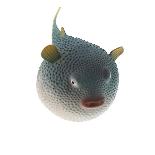 perfk Künstlicher Kugelfisch Aquarium Fisch Tank Dekoration - Blau