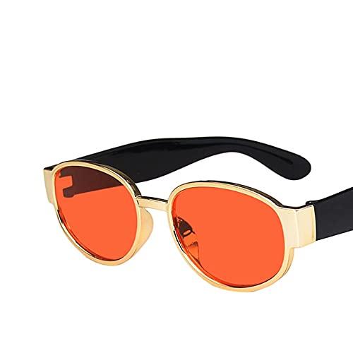 Gafas De Sol Gafas De Sol Cuadradas De Plástico Dorado Marrón para Mujer, Gafas De Color Rojo Y Amarillo Vintage para Hombre, Nuevas Tendencias para Conducir Al Aire Libre C05