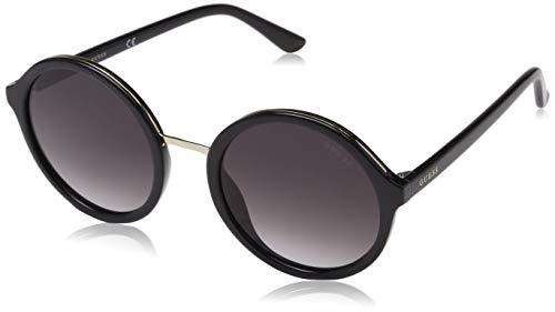 Guess Unisex-Erwachsene GU7558 01B 54 Sonnenbrille, Schwarz (Nero Lucido/Fumo Grad)