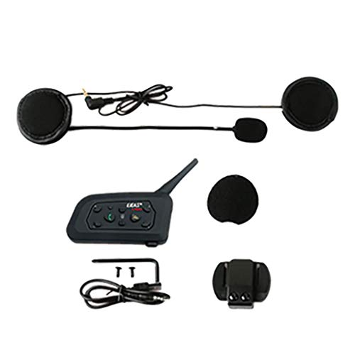 IPOTCH V6-Pro 1200M Interphone BT3.0 Casco de Moto Intercomunicador Audio Auriculares 6Rider