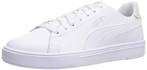 PUMA Unisex Serve Pro Lite Sneaker, Weiß - weiß puma weiß puma Silber grau violett - Größe: 42 EU