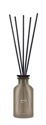 ipuro Classic cachemire Raumduft - Raumduft-Set mit warmer und wohliger Wirkung - Lufterfrischer mit hochwertigen Inhaltsstoffen 75 ml - aus Glas mit Rattanstäbchen