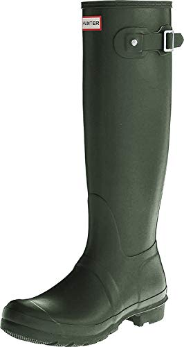 Hunter Original Tall Damen Fest Gummistiefel Wellington Boots - Dunkelgrün - 39