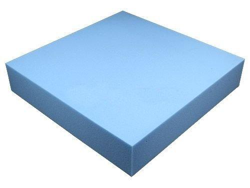 Heiro Schaumstoffplatte Blau 50x50cm Schaumstoff Kissen Schaumstoffpolster - extra formstabil - 10cm dick