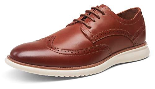 Jousen Men s Oxblood Dress Shoes Formal Oxfords Wingtip Lace Up Dress Shoes(AMY732 Oxblood 10)