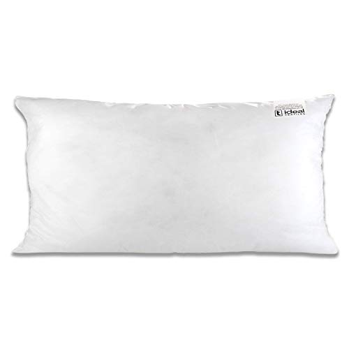 IT IDEAL TEXTILES One Hollowfibre 12' x 20' Cushion Inner Pad, White Anti Allergy Cushions Pads, Fully Machine Washable Fibre Cushion Cover Inserts