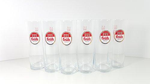 Früh Kölsch Gläser-Set – 6x Früh Kölsch Gläser Biergläser 0,3L