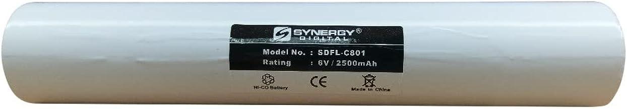 Bateria para lanterna Maglite ET2600D FLB-NCD-4 (5 1/2 D Stick Ni-CD 6V 2500mAh) Bateria - substituicao para Streamlight, ...
