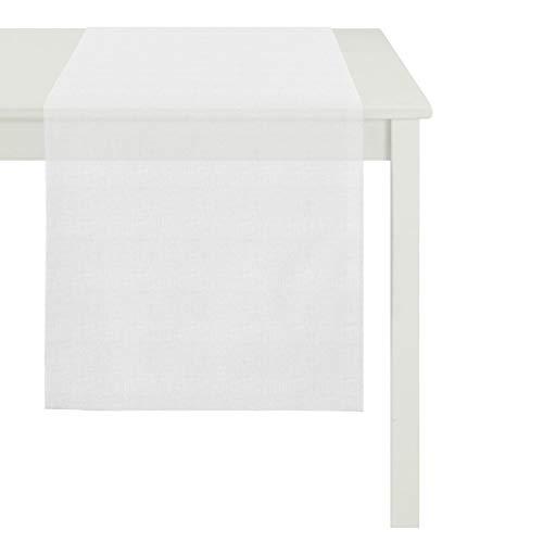 APELT Uni-Basic Easy Tischläufer 48x140 weiß