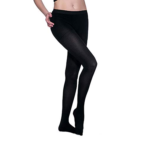 Compression Pantyhose 20-30 mmHg for Women & men, Helps Relieve Symptoms of Mild Varicose Veins, Firm Support Gradient Compression 1 Pair.(Close Black-L)