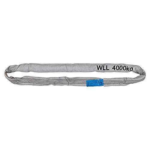 Petex 47204018 Rundschlinge WLL 4.000 kg, Länge 1 m, Umfang 2 m, Grau