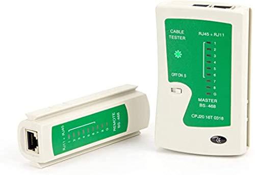 r2digital - Comprobador de red LAN RJ45 RJ11 LED de estado red control prueba cable de red y telefónico