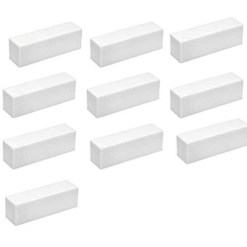 Doitsa 10pcs Nagelbuffer Polierblock Buffer Schleifblock Nagelfeile Acryl Fingernägel Nail Art Weiß 9cm*2.5cm*2.5cm