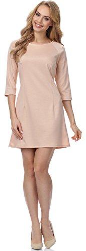Merry Style Damen Kleid MSSE0013 (Beige, XXL)