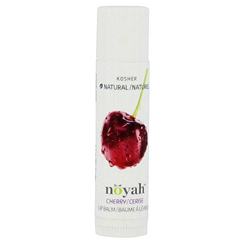 Noyah All Natural Moisturizing Lip Balm | Formulated Using Beeswax & Natural Oils | Repairs Cracked Lips & Leaves Them Feeling Soft & Nourished+ Natural Cosmetics E-Book (Cherry)