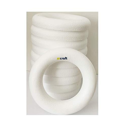 12CM Polystyrene Half Round Rings For Children Craft, Wedding,DIY and Wreath Decoration-Pack 10