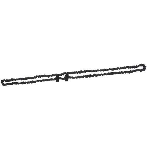 【犬印】らくらく授乳ストラップ(ラウンドールプタイプ・リボン付) 200-0100 (ブラック無地(B))