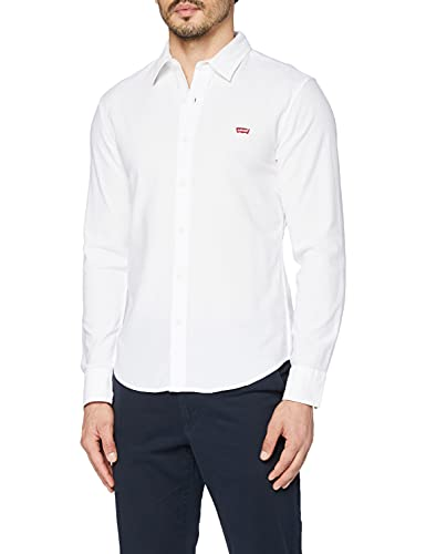 Levi's LS Battery HM Shirt Slim Camicia, White (White 0002), Small Uomo
