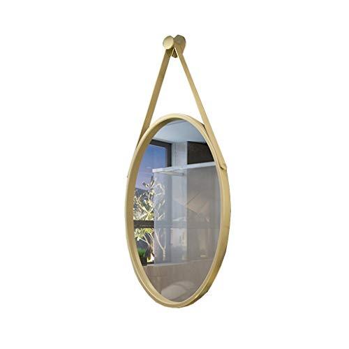 QXHELI Spiegels Spiegels Europese cyclus badkamer zwart moderne villa, eenvoudige muur montage spiegels TOILET wastafel niezen guard welkomstspiegels (Kleur: Goud)